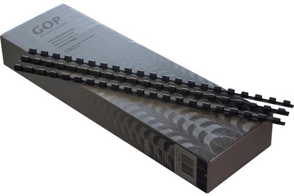 GOP Plastikbinderücken 020721 6mm, schwarz 100...