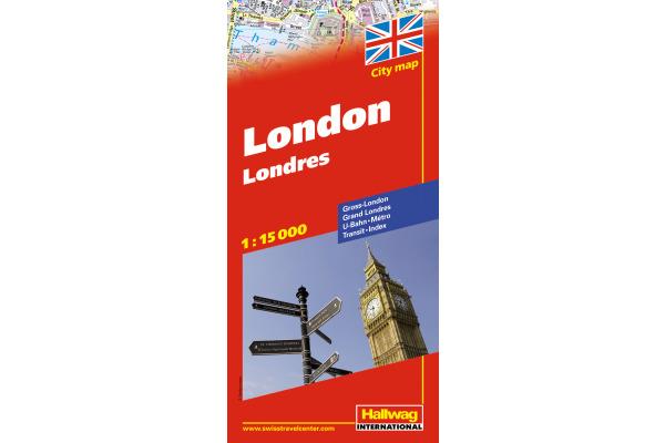 HALLWAG Stadtplan 382830526 London 12,5x21cm
