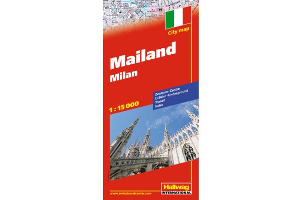 HALLWAG Stadtplan 382830533 Mailand 12,5x21cm