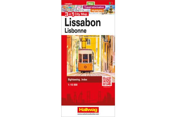 HALLWAG City Map 12,5x21cm 382830874 Lissabon