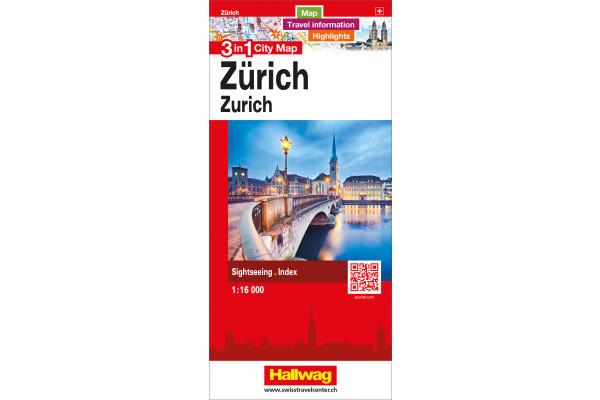 HALLWAG 3 in 1 City Map 1:16000 382830884 Zürich