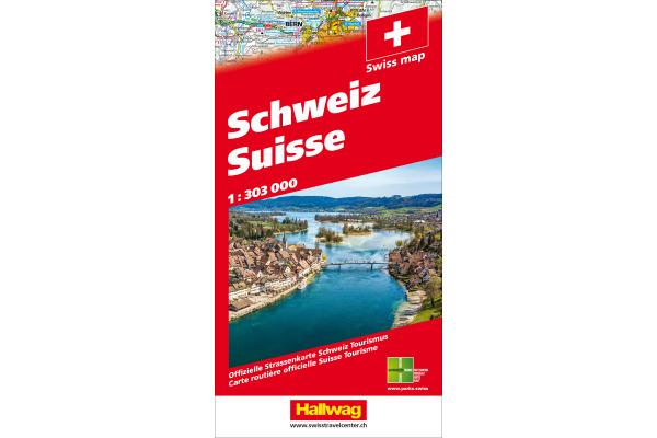 HALLWAG Strassenkarte 382831035 Schweiz 2021 1:303'000