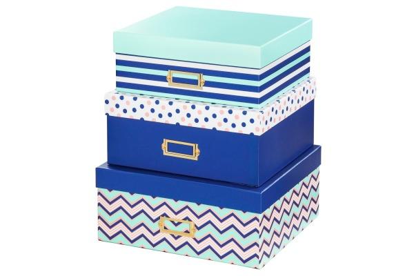HAMA Aufbewahrungsboxen 2411 Designline Stripes 3 Stück