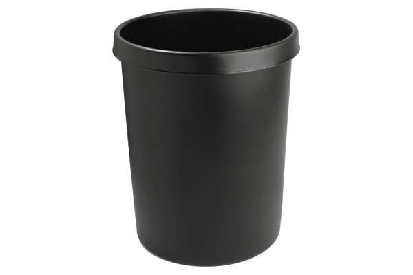 HELIT Papierkorb H6106295 schwarz 45lt