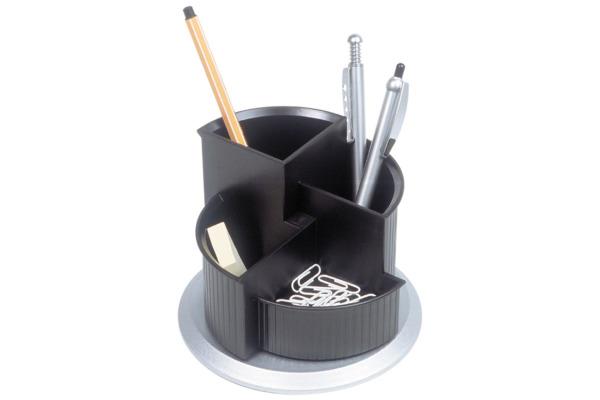 HELIT Stifteköcher 150x112mm H6220599 schwarz silber