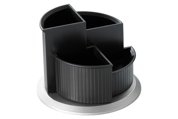 HELIT Stifteköcher 150x112mm H6220599 schwarz/silber