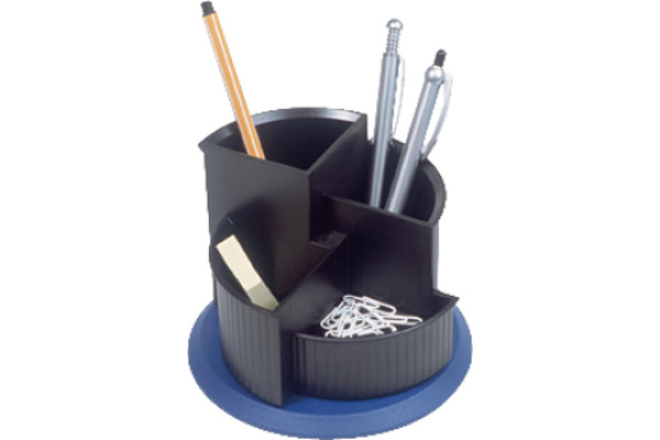 HELIT Stifteköcher 150x112mm H6390593 schwarz/blau