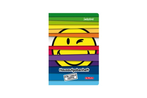 HERLITZ Hausaufgabenheft A5 50016044 Rainbow Jalousie SmileyWorld