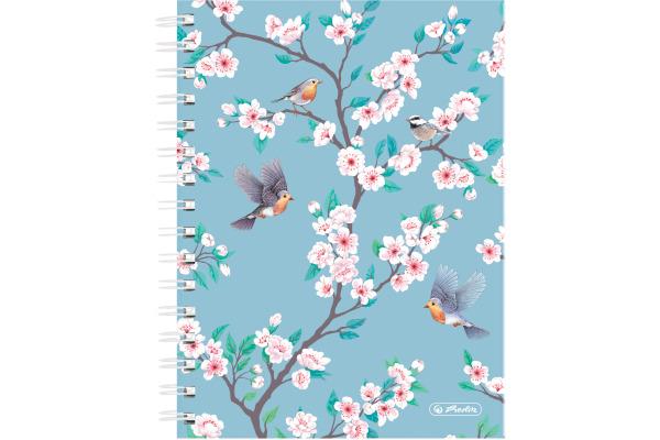 HERLITZ Spiralbuch A5 50021420 100 Blatt Ladylike Birds