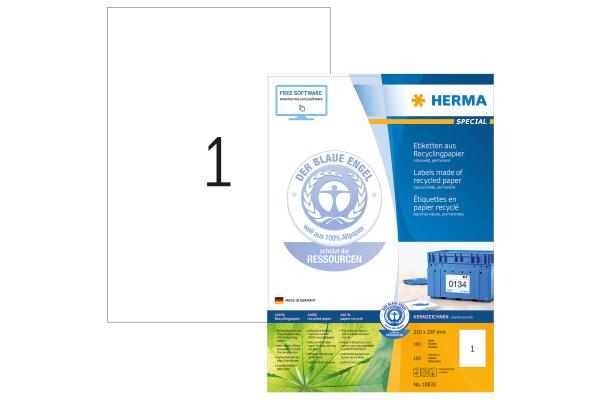 HERMA Etiketten A4 10833 recycling 100 Stück