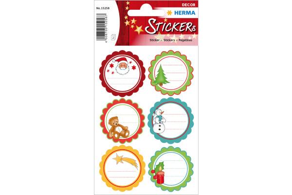 HERMA Sticker Geschenk Weihnachten 15258 12 Stück 2 Blatt