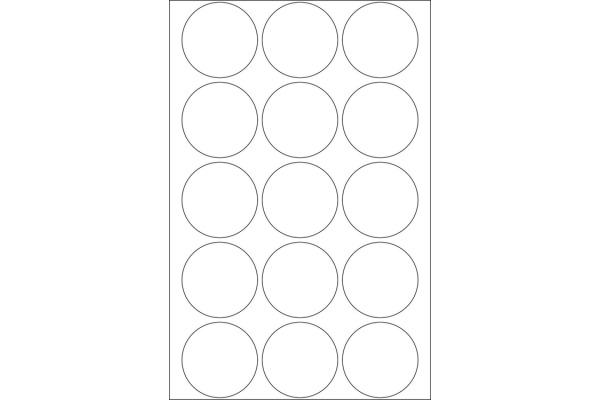 HERMA Markierungspunkte 32mm 2270 weiss 480 St./32 Blatt