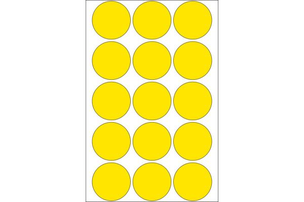 HERMA Markierungspunkte 32mm 2271 gelb 480 St./32 Blatt