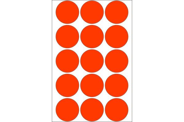 HERMA Markierungspunkte 32mm 2272 rot 480 St./32 Blatt