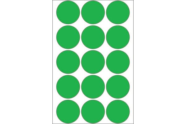 HERMA Markierungspunkte 32mm 2275 grün 480...