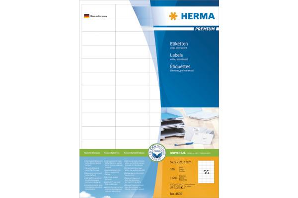 HERMA Etiketten Prestigemium 52,5×21,2mm 4609...