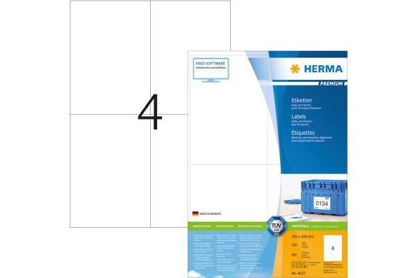HERMA Universal-Etiketten 105x148mm 4627 weiss 800 St....