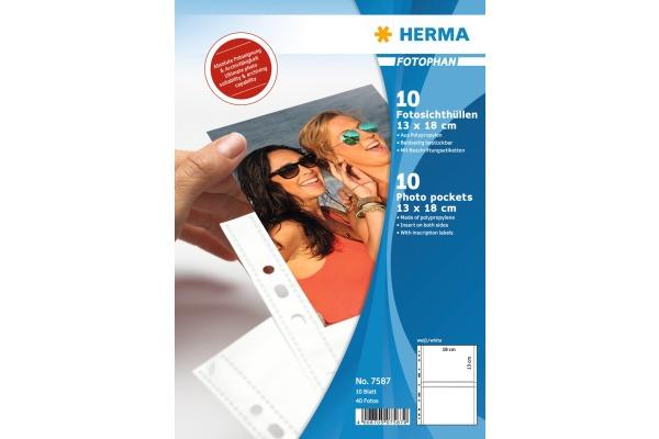 HERMA Fotophan Sichthüllen 13x18cm 7587 4...