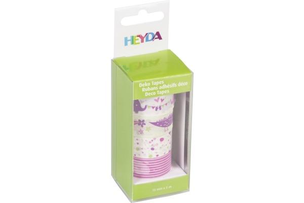 HEYDA Deko Tape Baby 4x 15mmx5m 203584357 rosa 4 Rollen