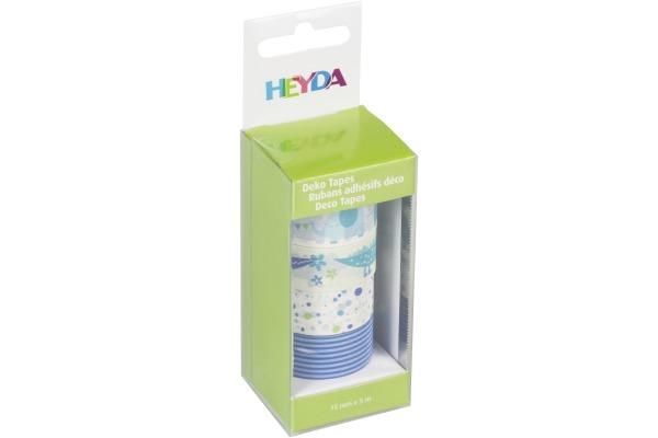 HEYDA Deko Tape Baby 4x 15mmx5m 203584358 blau 4 Rollen