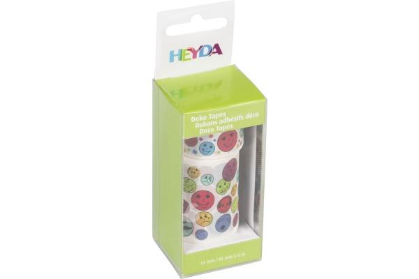 HEYDA Deko Tape Emojis 203584359 1x 15mmx5m, 1x45mmx5m 2 Rollen