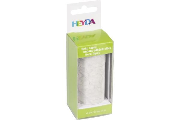 HEYDA Deko Tape Marmor 203584364 1x 15mmx5m, 1x45mmx5m 2 Rollen