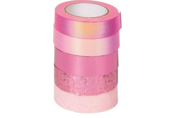 HEYDA Deko-Tape rosa 203584515 4x12mmx5m/1x12mmx2m