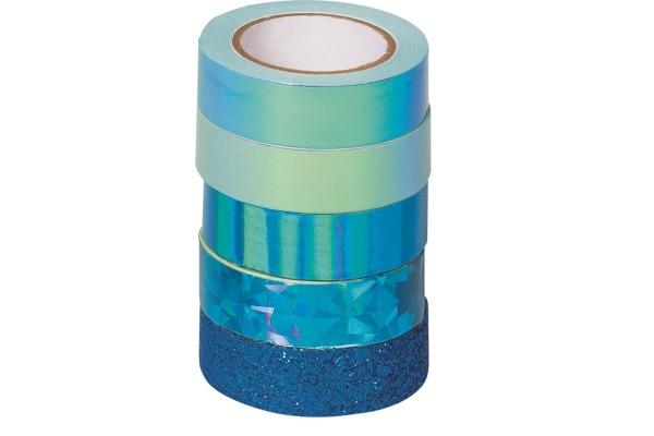 HEYDA Deko-Tape blau 203584516 4x12mmx5m/1x12mmx2m