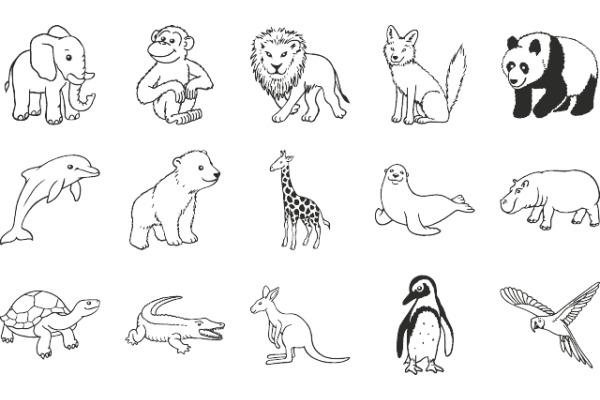 HEYDA Stempel-Dose 204888491 Zoo-Tiere 15 Stück