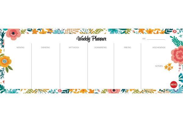 HEYE Weekly Planner Flowers 840163975 DE, 29.5x10.5cm,