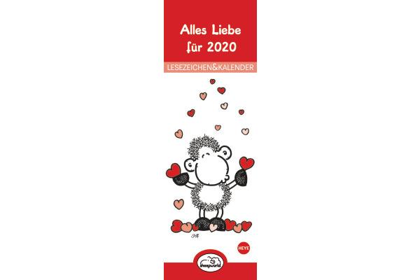 HEYE Lesezeichen Sheepworld 840167720 DE, 6x18cm, 2020