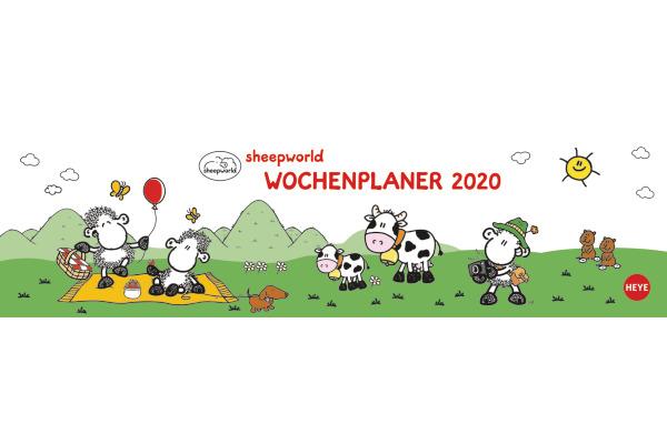 HEYE Wochenquerplaner Sheepworld 840167744 DE, 32,5x9,3cm, 2020