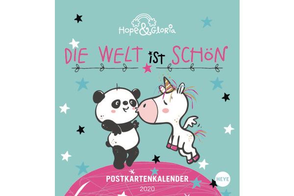 HEYE Postkarten Hope & Gloria 840167980 DE, 16x17cm, 2020