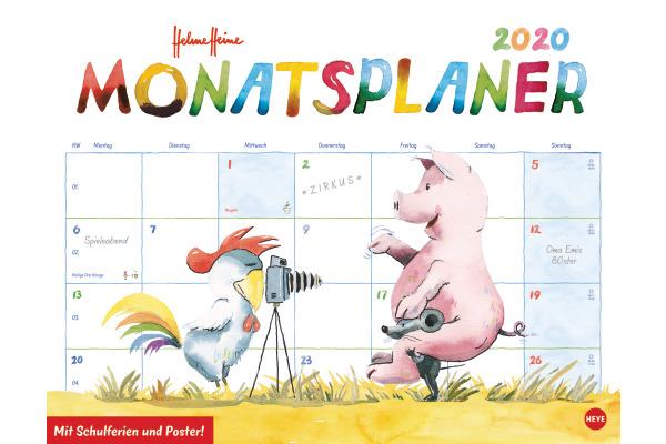 HEYE Monatsplaner Helme Heine 840168130 DE, 44x34cm, 2020