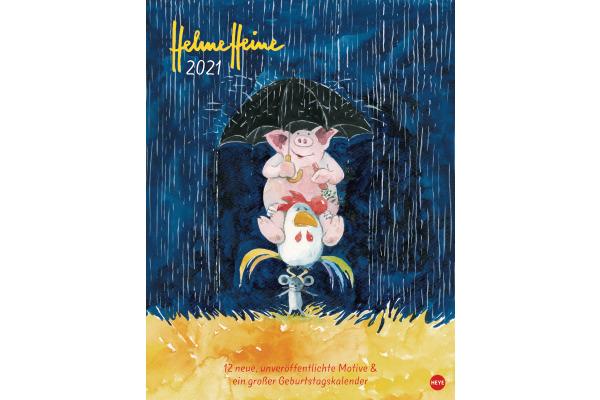 HEYE Bildkalender Helme Heine 840175022 DE,34 X 44cm,2021