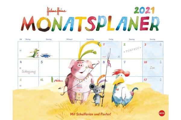HEYE Monatsplaner Helme Heine 840175633 DE,44 X 34cm,2021