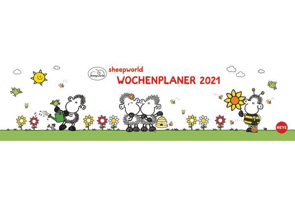 HEYE Wochenquerplaner Sheepworld 840176487 DE,32,5 X 9,3cm,2021