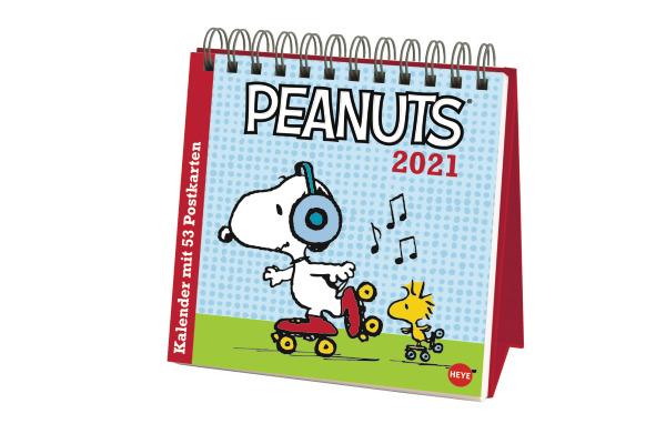 HEYE Postkartenkalender Peanuts 840178153 DE,16,5 X 17,7cm,2021