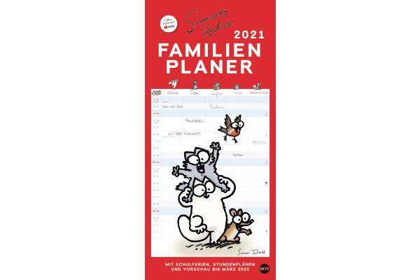 HEYE Familienplaner Simons Katze 840178320 DE,21 X 45cm,2021