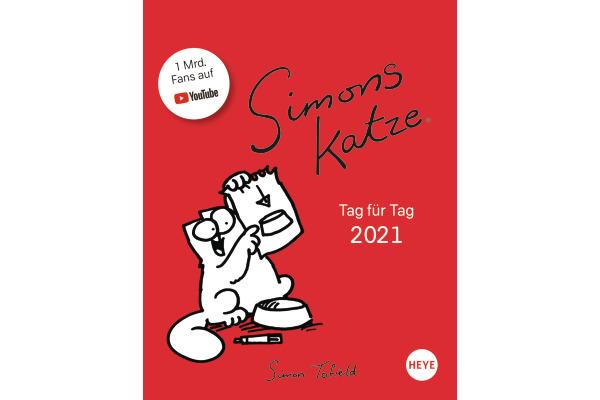 HEYE Abreisskalender Simons Katze 840178337 DE,11 X 14cm,2021