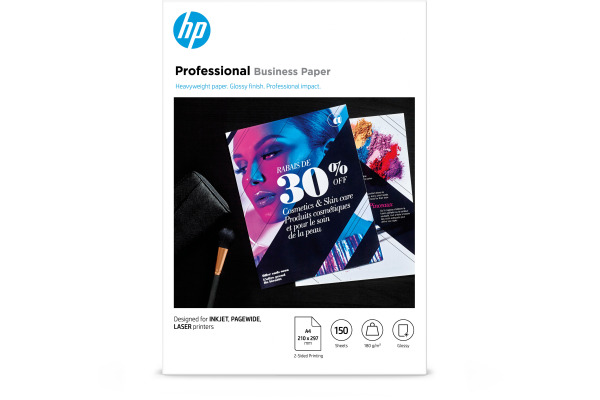HP Professional FSC Papers A4 3VK91A Multiuse Glossy 180g 150 B.