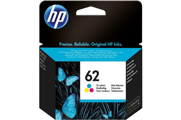 Cartouche HP 62 couleur Originale, 165 pages (Hp C2P06AE)