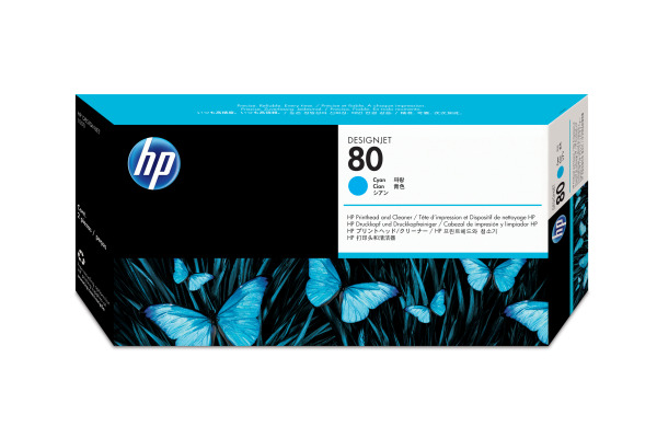 HP 80 Tête d'Impression + Cleaner Cyan (HP C4821A)