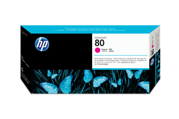 HP 80 Tête d'Impression + Cleaner Magenta (HP C4822A)