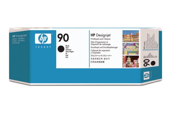 HP Druckkopf 90 + Cleaner schwarz C5054A DesignJet 4000