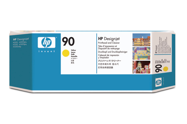 HP Druckkopf 90 + Cleaner yellow C5057A DesignJet 4000