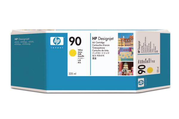 HP Tintenpatrone 90 yellow C5064A DesignJet 4000 225ml