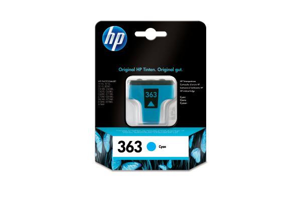 HP Tintenpatrone 363 cyan C8771EE PhotoSmart 8250 400 Seiten
