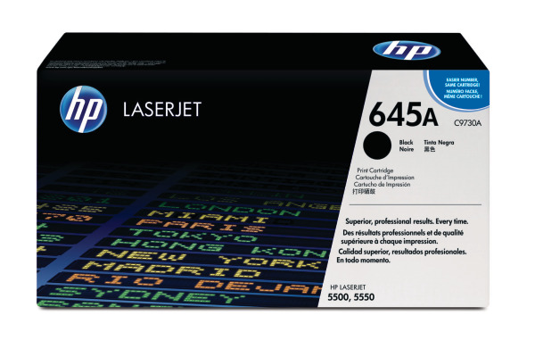 HP Toner-Modul 645A schwarz C9730A Color LaserJet 5500 13000 Seiten