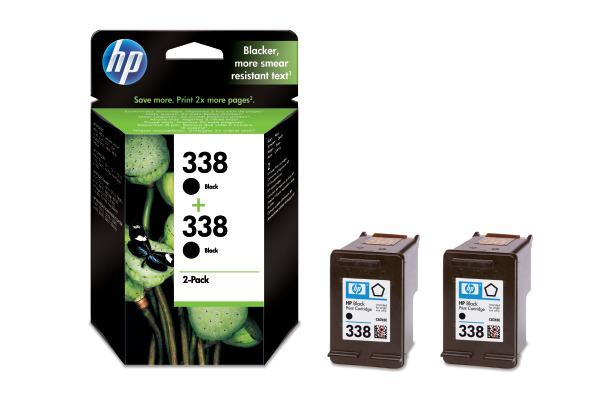 HP Tintenpatrone 338 schwarz CB331EE PSC 2355 2 Stück
